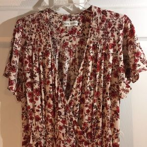 XL vintage inspired bohemian floral dress